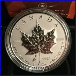 2005 60th Anniversary of the Liberation Tulip Maple Leaf Privy 1oz silver Canada