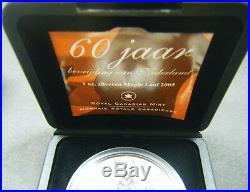 2005 Canada $5 1oz Tulip Privy Mark Netherland liberation Silver Maple Leaf coin