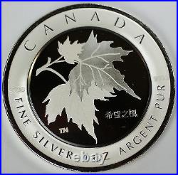 2005 Canada $5 Silver Maple Leaf of Hope- Chinese- with Presentation Box & COA