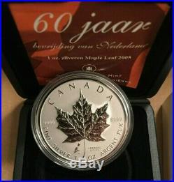 2005 Maple Leaf Tulip Privy Mark Pure 1 oz. 9999 Silver Canada with box & COA