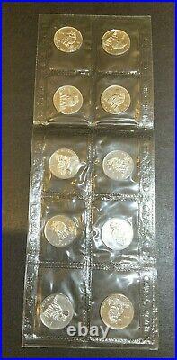 2006 $1 Canada Maple Leaf 1/2 oz Fine. 9999 Silver Timber Wolf SEALED SET OF 10