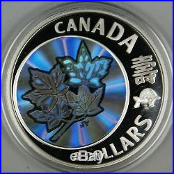 2007 Canada $8 Maple of Long Life. 9999 Hologram Proof Silver Coin- with Box & COA