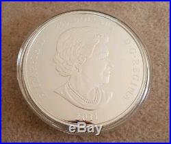 2011 Canada Maple Forever 1 Kilo Silver coin. Original box and COA