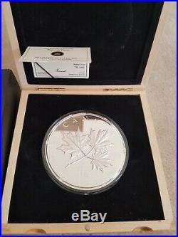 2011 Canada Maple Forever 1 Kilo Silver coin. Original box and COA #2