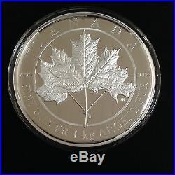 2012 Canada $250 Kilogram Pure Silver Maple Leaf Forever