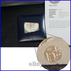 2012 Canada Silver Maple 1oz f15 Privy Mark All New in Capsule With COA