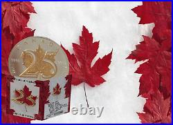2013 25th Anniversary 1 oz Gilded Silver Canadian Maple Collectors Edition Coin