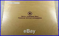 2013 Canada $10 Sterling Silver 12 Matte Proof Coin Set Colorized Maple Leaf