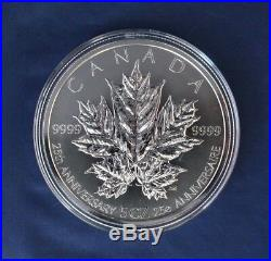 2013 Canada 5oz Silver Proof $50 coin Maple Leaves in Case with COA (R10/6)