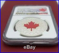 2013 Canada Maple Leaf Impression Red Enamel $20 1 oz Silver NGC PF70 UC