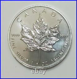 2013 Maple Leaf $5 Coins. 9999 Fine Silver Proof-Like Lot of (10)
