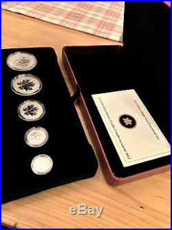2013 Silver Maple Leaf Fractional Set