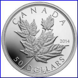 2014 Canada $50 Fine Silver High Relief Coin Maple Leaves