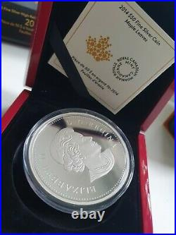 2014 Canada $50 MAPLE LEAVES PURE SILVER COIN
