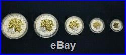 2014 Canada Fine Silver Fractional Set The Maple Leaf RCM 127913