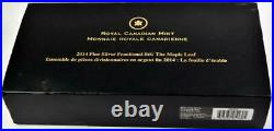 2014 Canada Maple Leaf Fractional Set Gold Plated. 9999 Silver 5-Coin Box & COA