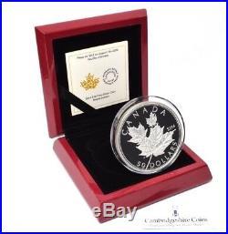 2014 Fine Silver High Relief Canada Maple Leaf 50 Dollar Coin Box COA 157 grams