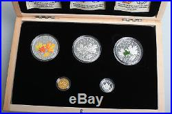 2014 Majestic Maple Set Silver Gold Platinum Coins Only 3000 Sets
