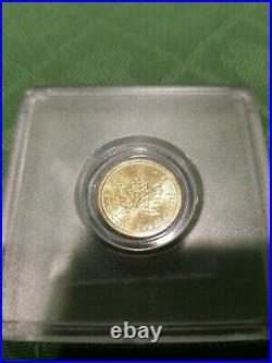 2015 1/10 oz. BU Canadian Gold Maple Leaf + 2014 1oz Canada Wildlife Silver Coin