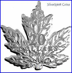2015 CANADA MAPLE LEAF SHAPED Silver Coin in Box