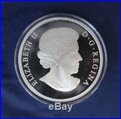 2015 Canada 5oz Silver Proof Hologram coin Maple Leaves in Case / COA (R10/8)