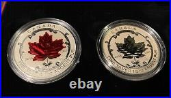 2015 Canada. 999 Fine Silver Fractional Set The Maple Leaf