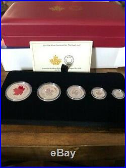 2015 Canada Fine Silver Fractional Set The Maple Leaf