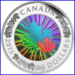 2015 Lustrous Maple Leaves Canada Silver Complete As Issued 1500 Mintage