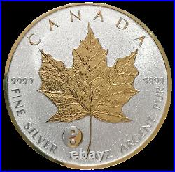 2016 1 oz Gilded Silver Reverse Proof Canadian Maple Collectors Edition Coin