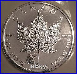 2016 10 x Panda Privy Mark Maple Leaf Canada Pure 1 oz. 9999 Silver Coins
