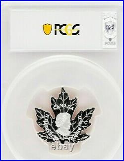 2016 Canada $20 1oz Silver $20 Proof Maple Leaf Shape Coin (Colorized)-PCGS PR69