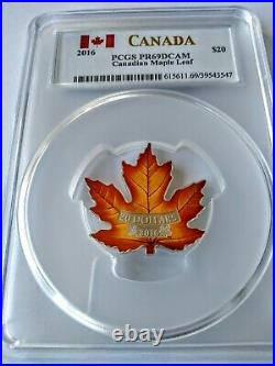 2016 Canada $20 1oz Silver Proof Canadian Maple PCGS PR69DCAM Colorized Coin