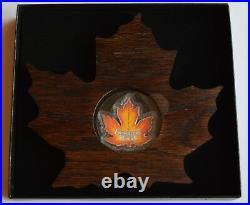 2016 Canada $20 Fine Silver Coin Canada's Colourful Maple Leaf 99.99 Pure Silver