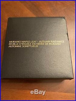 2016 Canada 5 oz Silver $50 Murano Maple Leaf Autumn Radiance