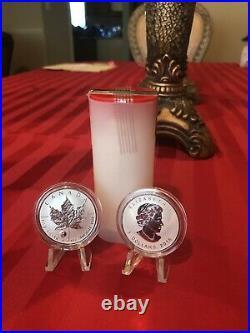 2016 Canada Maple Leaf Yin & Yang Privy Mark Roll OF 25 OZ Silver. 9999 Rare