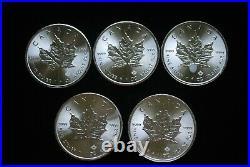 2016 Canada Mint Roll (25) Silver Maple Leaf $5 GEM BU