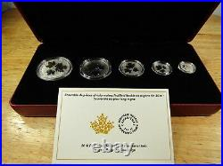 2016 Canada Silver Fractional Maple Leaf 5-Piece Set OGP and COA