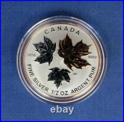 2016 Canada Silver Proof 5 coin set The Maple Leaf in Case with COA
