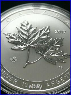 2017 Canada 10 oz Silver $50 Magnificent Maple Leaves BU