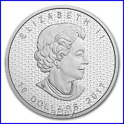2017 Canada 2 oz Silver $10 Canada's 150 Iconic Maple Leaf Proof SKU#105278