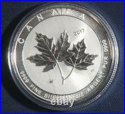 2017 Canada $50 Coin 10 Oz. 9999 Silver Sugar Maple Leaf Lot 041057