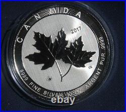 2017 Canada $50 Coin 10 Oz. 9999 Silver Sugar Maple Leaf Lot 180953