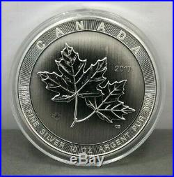 2017 Canada $50 Coin Magnificent Maple Leaf Large 10 oz. 9999 Silver BU
