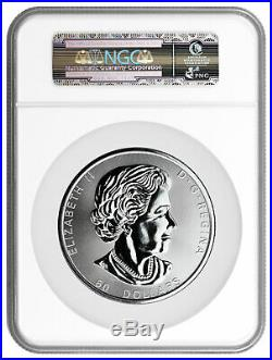 2017 Canada Magnificent Maple Leaves 10 oz. Silver $50 NGC MS70 ER SKU46310