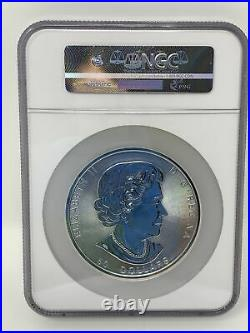 2017 Canada Magnificent Maple Leaves $50 10 oz. 9999 Silver Coin NGC MS 69