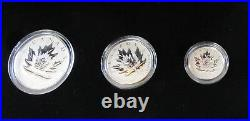 2017 Canada Maple Leaf 9999 PURE Silver 4 Coin Set Fractional PROOF