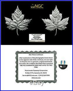 2017 Canada Maple Leaf Shaped 1 Kilo Silver Antiqued $250 NGC MS69 ER SKU50140