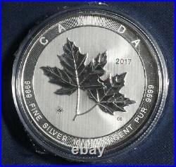 2017 Maple Leaf 10 Oz 0.9999 Fine Silver In Capsule L-161100