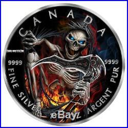 2018 1 Oz Silver $5 APOCALYPSE GRIM REAPER 3 Maple Leaf Coin