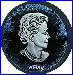 2018 1 Oz Silver $5 DEEP FROZEN MAPLE LEAF 30th Anniversary Coin